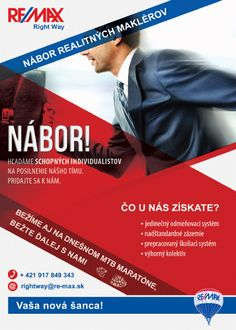 Náborový leták pre bežecke podujatie.  #remax #recruiting #realestate #ads #marketing #nabormaklerov #reality