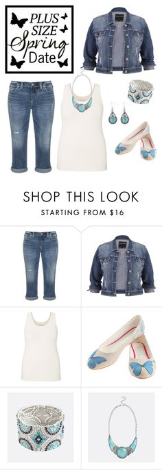 """Plus Size Spring Date Contest Entry 4"" by sarahlynnmurphy ❤ liked on Polyvore featuring Silver Jeans Co., maurices, Goby and Avenue"