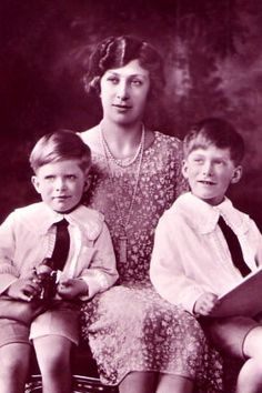 Princess Mary with her sons George and Gerald. Princess Mary lived at Goldsborough Hall during the 1920s.