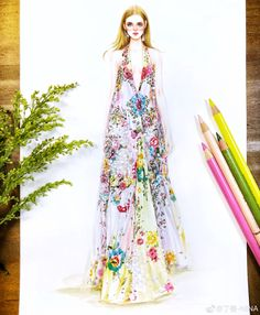 Fashion Illustration Dresses, Fashion Illustrations, Fashion Design Sketches, Fasion, Vogue, Science, Style Inspiration, Inspired, Fabric
