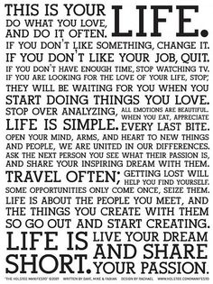 This is your life. #inspiration #inspiring #lifeisshort #lovelife #loveyourlife #dowhatyoulove www.jwine.com