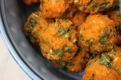 Zoete aardappelballetjes