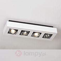 Podłużna lampa sufitowa LED VINCE, biała, 4-pkt. bezpieczne & wygodne zakupy w sklepie internetowym Lampy.pl.