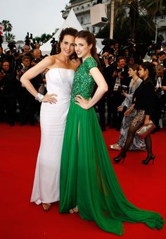 Andie Macdowell & daughter Sarah Margaret Qualley - Cannes Film Festival 2012