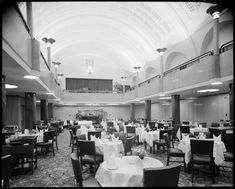 Dining Room at the Hotel Australia, Collins St with ceiling from the former Cafe Australia designed by Walter Burley Griffin, demolished for Australia on Collins (today St Collins La) Today's Saint, Prairie School, Melbourne Victoria, School Architecture, At The Hotel, South Pacific, Historic Homes, Historical Photos, Old Photos