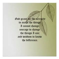 printable serenity prayer - Bing Images