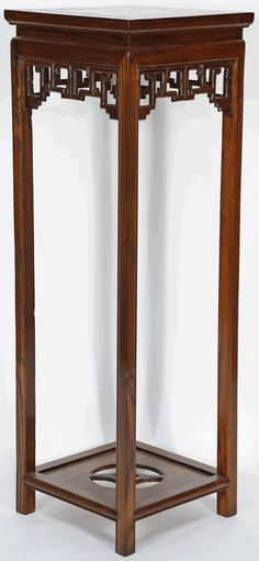 Asian Furniture Inspired Tall Plant Vase Stand From China Antique