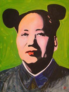 """For Sale: Green Maose by Antti Eklund   $1,300   30""""w 40""""h   Original Art   https://www.vangoart.co/antti-eklund/green-maose-ca2044a7-3b9e-4530-8a74-2b79e6584ca5 @VangoArt"""