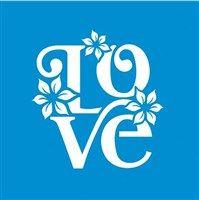 Stencil Love 10 x 10cm - STX - 183 Litoarte
