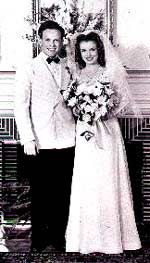 First wedding of Marilyn Monroe (then Norma Jeane Baker) to Jim Dougherty