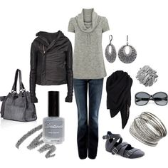 """""""casual outfit"""" by lhabis on Polyvore  Bag, shirt & jacket...yes please!!!"""