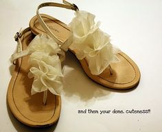 diy flower shoes!