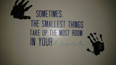 Customized Child Handprint & Quote Wall Decal Use Your Child's Hand or Footprint by baloveDesigns on Etsy