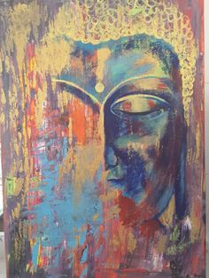 Bouddha peint par Sylvie de Samui  pour Su Buddha Face, Buddha Zen, Gautama Buddha, Buddha Sculpture, Sculpture Art, Sculptures, Samui, Abstract Paintings, Abstract Art