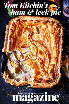 This ham and leek pie recipe by chef Tom Kitchin is proper comfort food that he often makes for his family at home Ham Recipes, Cooking Recipes, Chicken Recipes, Dinner Recipes, Bbc Good Food Recipes, Pastry Recipes, Curry Recipes, Ham And Leek Pie, Corona