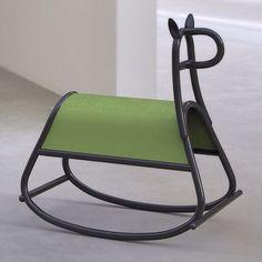 Designer rocking horse from Stockholm studio Front, based its minimal design for Gebrüder Thonet Vienna on an old bent-wood chair. Via @dezeen instagram