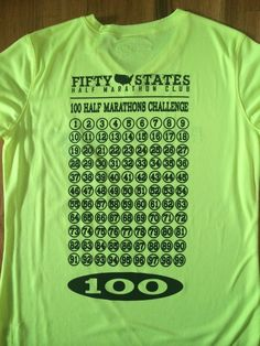 Fifty States Half Marathon Club LLC - 100 Half Marathons MEN'S New Balance Tech Short Sleeve, $32.95 (http://halfmarathonclub.mybigcommerce.com/100-half-marathons-mens-new-balance-tech-short-sleeve/)