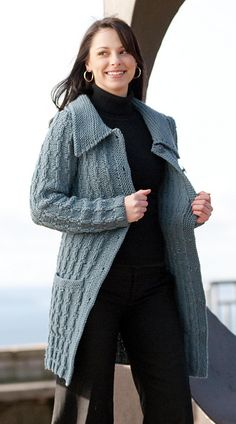 Ravelry: Textured Car Coat pattern by Melissa Leapman
