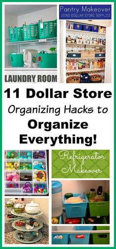 Awesome DIY Dollar Store Organizing Hacks! Organizing your home doesn't have to cost a fortune! Check out these 11 inexpensive dollar store organizing hacks to organize everything!   organizing tips, organizing tricks, home organization, cheap organizing ideas, inexpensive organizing ideas