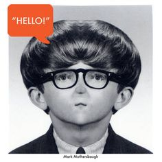 """Mark Mothersbaugh """"Hello, My Good Friend"""" Etched Record"""