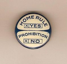 Anti-Prohibition Party Pin   #BureauOfTrade