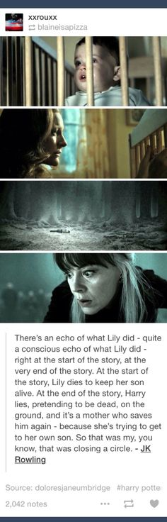 Echo; Lily Potter; Narcissa Malfoy; JK Rowling; Harry Potter; tumblr I OPEN AT THE CLOSE
