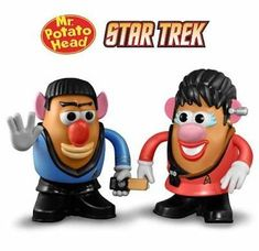 Lots of fun with these Star Trek potato heads! - Star Trek Mr. and Mrs. Potato Heads | #startrekgifts