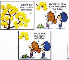 """8 curtidas, 1 comentários - Karine Gonçalves (@kka_karine) no Instagram: """"🌻🌻🌻 #armandinho #ipês #flores #flor #flowers #tirinhas #amoflores #primavera #spring"""""""