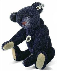 1908 Black Mohair Teddy Bear by Steiff