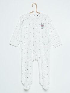 586d3e40379 Garçon 0-36 mois - Pyjama en velours  lapin  - Kiabi