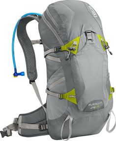 Camelbak 2016 Pursuit 24 LR Hydration Pack, Gunmetal/Lime Punch - A product at a great price. Camping And Hiking, Hiking Gear, Camping Gear, Family Camping, Best Hiking Backpacks, Hiking Accessories, Outdoor Backpacks, Hydration Pack, Rucksack Backpack