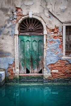 The Teal Green Door, Venice, Italy