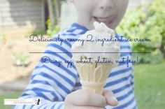 Deliciously creamy and healthy 2 ingredient free-from ice cream!
