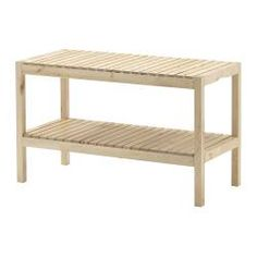 bench ikea molger. I love this, but I wouldn't use it as a bench.  I think it would make an awesome plant stand to house many of my plants. :) #plant #bench