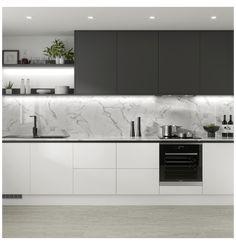 Luxury Kitchen Design, Kitchen Room Design, Contemporary Kitchen Design, Kitchen Cabinet Design, Home Decor Kitchen, Interior Design Kitchen, Home Design, Home Kitchens, Modern Kitchens