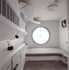 Interior of Kisho Kurokawa's Nakagin Capsule Tower (中銀カプセルタワ), 1970-1972: Shimbashi, Tokyo, Japan.