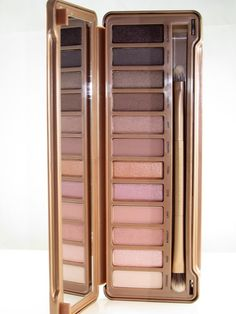 """Urban Decay NAKED 3. BEST EVER! Those with blue eyes will especially love these shadows because of the warm pink, gold & brown shades or what we've deemed """"the rose gold palette""""!!"""