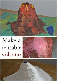 make a reusable volcano