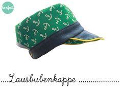 Kindermode - Lausbuben-Kappe Schnitt + Anleitung Hut Kappe - ein Designerstück von KonfettiPatterns bei DaWanda