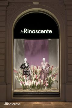 The new Maje window displays at La Rinascente Florence, Rome and Milan.
