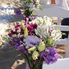 Purple, mauve, white chair decor at this beach Wedding in Alyko beach Naxos Greece. Styled by Islandevents. Naxos Greece, Purple Beach, Greece Wedding, Beautiful Beaches, Mauve, Destination Wedding, Floral Wreath, Wreaths, Weddings