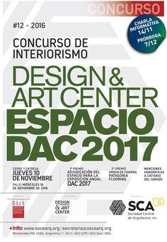 SCA | CONCURSO DE INTERIORISMO  La Sociedad Central de Arquitectos presenta el Concurso de Interiorismo para Design & Art Center y realizará una charla informativa el próximo lunes 14 de noviembre a las 18.30 horas.  Más info: http://ly.cpau.org/2fotwfM  #AgendaCPAU #Concursos #RecomendadoARQ