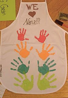Handprint apron for grandma!