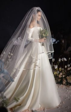 Off the Shoulder Classy Wedding Dresses with Long Sleeves VW.- Off the Shoulder Classy Wedding Dresses with Long Sleeves Off the Shoulder Classy Wedding Dresses with Long Sleeves – Viniodress - Classy Wedding Dress, Modest Wedding Gowns, Elegant Wedding Gowns, Wedding Dress With Veil, Wedding Veils, Dream Wedding Dresses, Bridal Dresses, Bridal Veils, Vail Wedding