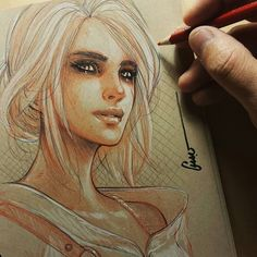 #tbt #witcher #ciri . I am so busy guys, to all my IG folk,  my Patrons,  and whomstever else you have my apologies in true Canadian fashion. I am so close to finishing off arc 3 that I am in full concentration mode! I will have a very special promotion coming up for the third arc! You will get an actual book mailed to you and all three of the arcs digitally. Hopefully after the 4th arc I can remake the first book in colour and start making larger book with better print ! More info to come…