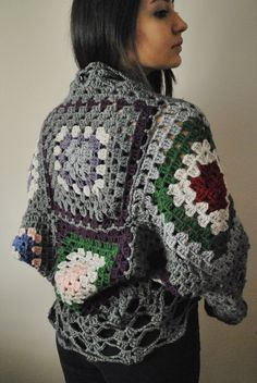 crochet vest granny squares cardigan by BouquetSpecialDesign, $49.00   I'm gonna make one for myself!