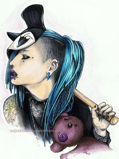Meto (from Mejibray) by taiyakitsune at DeviantArt - love the blue color in this!