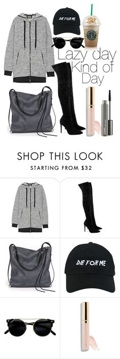 """""""Lazy day kind of outfit"""" by saraprifti on Polyvore featuring Karl Lagerfeld, Kendall + Kylie, Ina Kent, Nasaseasons, Beautycounter and MAC Cosmetics"""