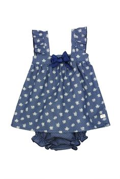 Eve Children SS16. Baby girl navy two piece outfit