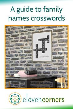 Family names crosswords make brilliant family gifts. Customise your crossword with family names - a unique and personal gift idea. #elevencorners #familygifts #personalisedgifts #wallart #crossword Personalised Prints, Personalized Wall Art, Personalized Gifts, Family Names, Family Gifts, Different Lines, Family Wall Art, Music Artwork, Place Names